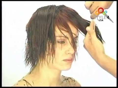 (English 65-5)  Short modern cut , Natural style,WOMEN'S SHORT HAIRCUT