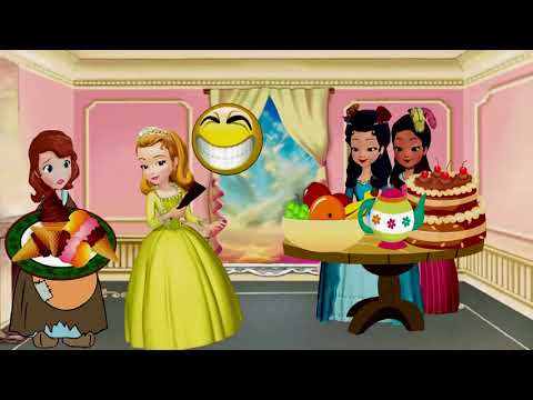 Sofia The First James And Sophia turn into Cinderella Funny Love Story