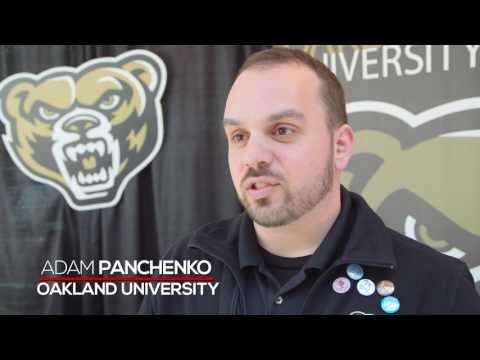 US College Expo 2016   Interview with Oakland University   Adam Panchenko