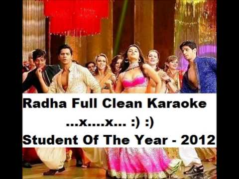 Radha Full Karaoke - (student Of The Year) 2012 (hd), With Lyrics...x...x... :) :) video