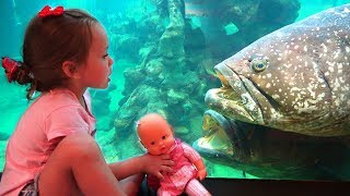 Learn fish with Maya and funny baby doll Educational video for kids