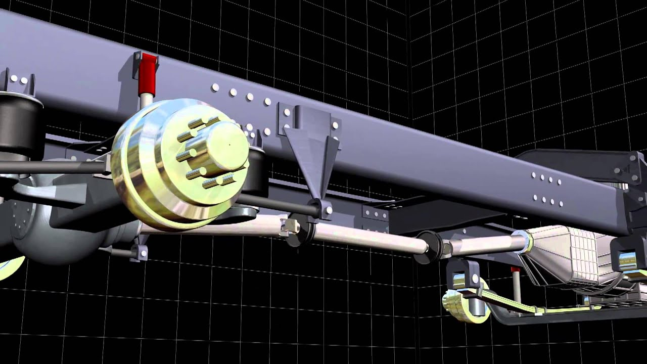 Truck Suspension 3d Animation Youtube