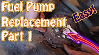 GMC Jimmy  Chevy Blazer Fuel Tank Removal -Fuel Pump Replacement Instructions DIY Part 1