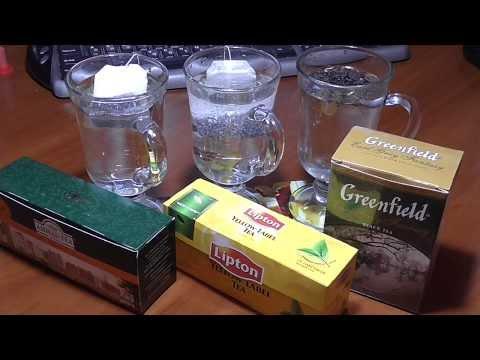 Качество чая Lipton, Ahmad Tea, Greenfield