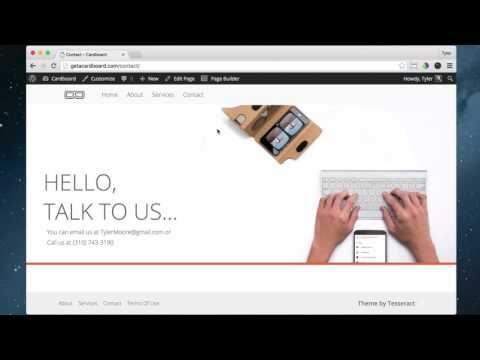 22 - Create Your Contact Page on Tesseract in WordPress - 2016