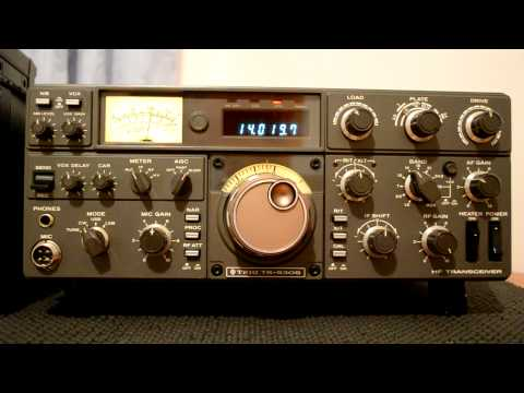 KENWOOD TRIO TS-530S in CW Mode Narrow Filter selected