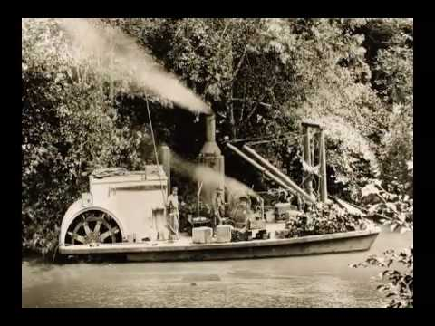 Big River historical slide show, Mendocino, California