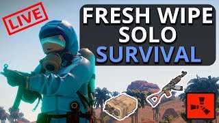 RUST SOLO Survival Fresh Wipe LIVE!! Hype Hype Hype