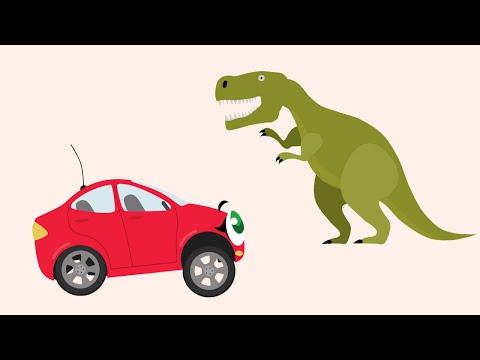 БИБИКА - Динозавры: Бронтозавр. Птеродактиль. Тираннозавр. Диплодок - Мультик про машинки и животных