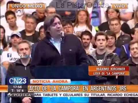 Maximo Kichner Acto La Cámpora