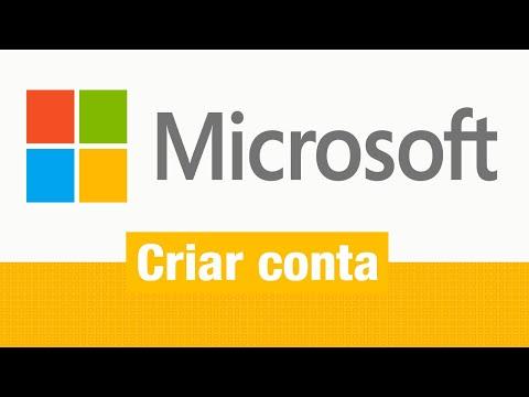 Como criar uma conta Microsoft para Hotmail. Skype. Windows 8. Messenger. etc.