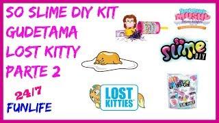 Abriendo So Slime DIY Kit Squishy Gudetama Toys Parte 2