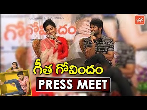 Geetha Govindam Press Meet | Vijay Devarakonda | Rashmika Mandanna | YOYO TV Channel