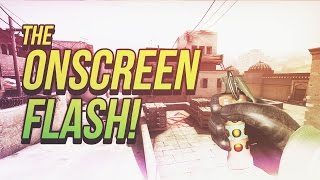 The onscreen flash