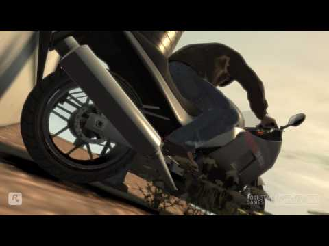 GTA IV fun...Falling off bike's & Buildings Video
