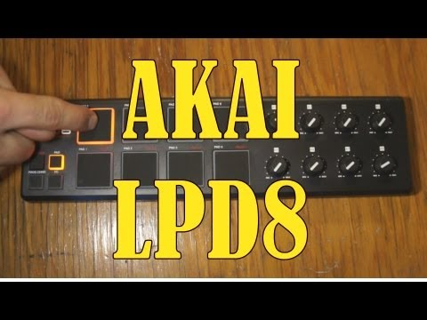 How to set up the AKAI LPD8 usb controller in Fruity Loops