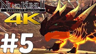 Ni No Kuni 2 Revenant Kingdom - Early Gameplay Walkthrough Part 5 - Incineraptor [4K 60FPS ULTRA]