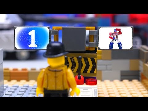 Transformers LEGO Cars experemental truck, Optimus Prime car and Excavator Video for Kids