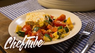 How to Make Roasted Vegetables on Feta Cheese - Recipe in description