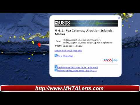 Earthquake Alert 6.2 Alaska Aleutian Islands
