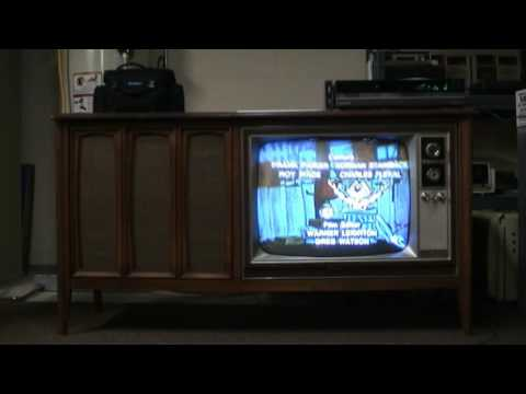 The 1967 Zenith 25 U0026quot  Console Tv  The Sonderborg  - First Power Up