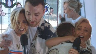 Sam Smith Surprises Fan In Her Living Room | Carrie & Tommy