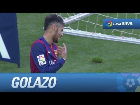 Gol de Neymar tras una gran asistencia de Messi (1-0) en el FC Barcelona - Levante UD