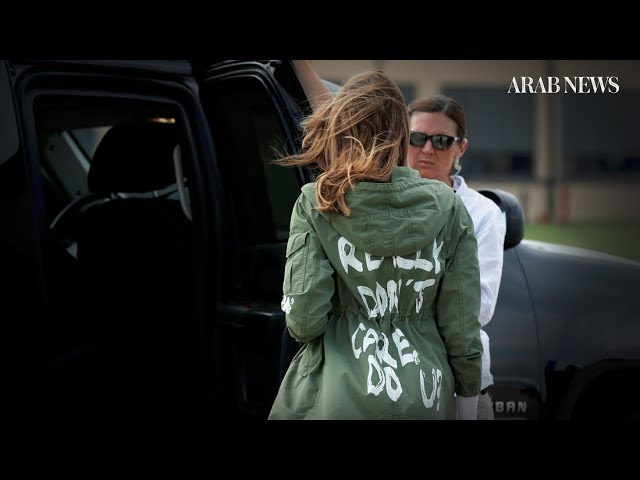 Melania Trump's jacket on visit to migrants stirs controversy