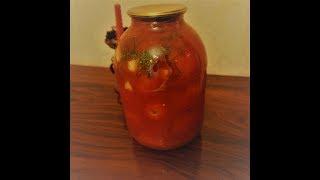 Рецепт вкусных помидор в томатном соусе на зиму/Идеи от Феи