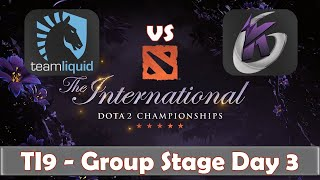 Liquid vs KG | The International 2019 | Dota 2 TI9 LIVE | Group Stage Day 3