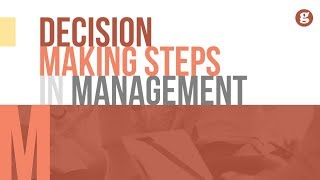 Decision Making Steps in Management