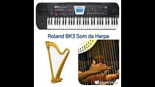 20 Hinos Tocados Som da Harpa Teclado Roland BK-3