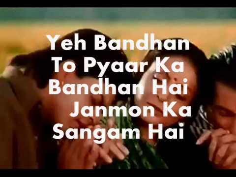 Yeh Bandhan To-Modified with Sad Version-Karaoke & Lyrics-Karan...