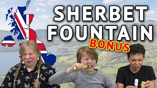 German Kids try British Sweets Bonus - Sherbet Fountain