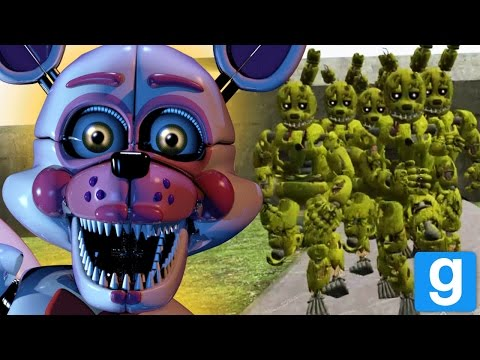 SPRINGTRAP HORDE VS THE ANIMATRONICS! || GMOD FNAF (Five Nights at Freddys Garrys Mod)