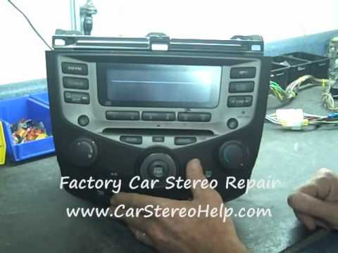 Honda Accord Radio COdE and Repair