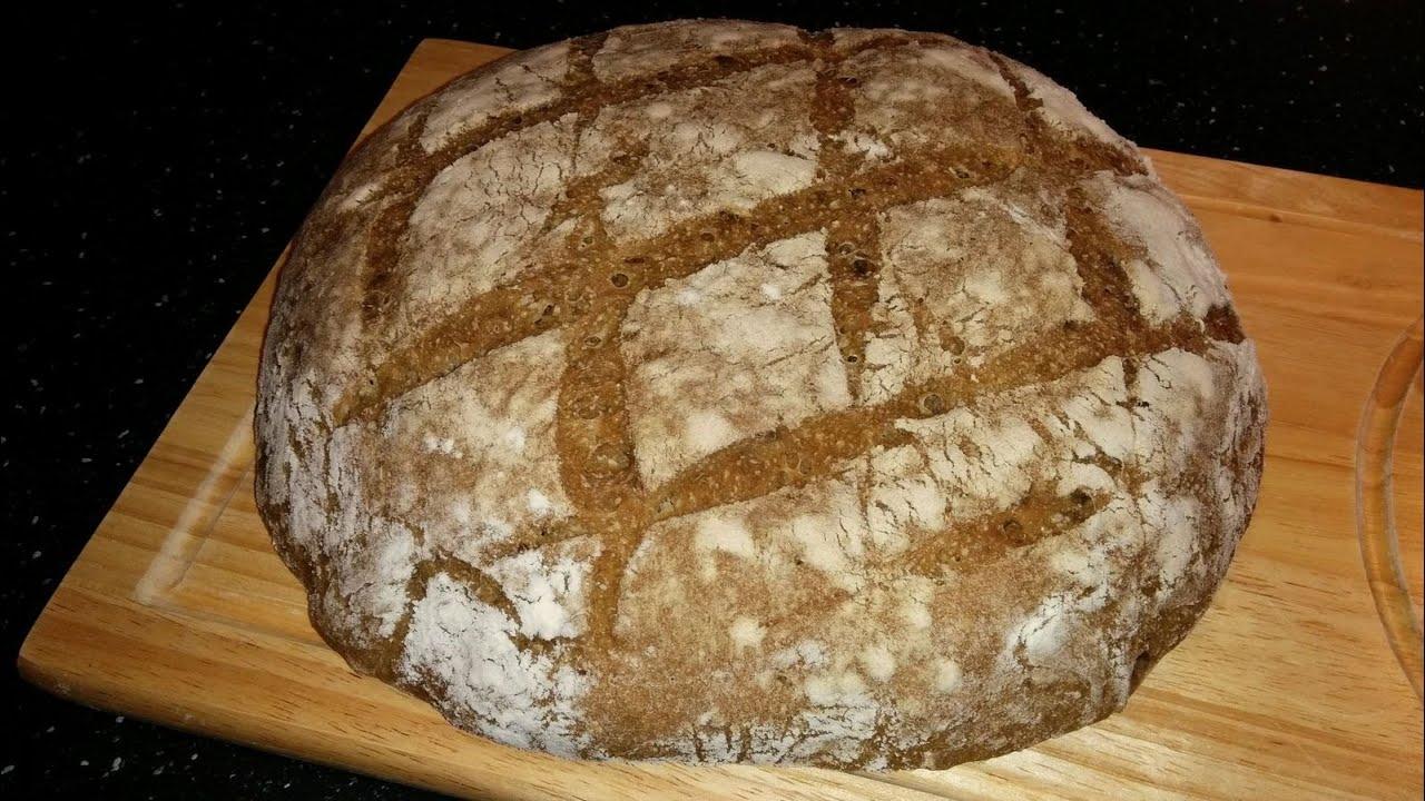 Рецепт бездрожжевого пшеничного хлеба