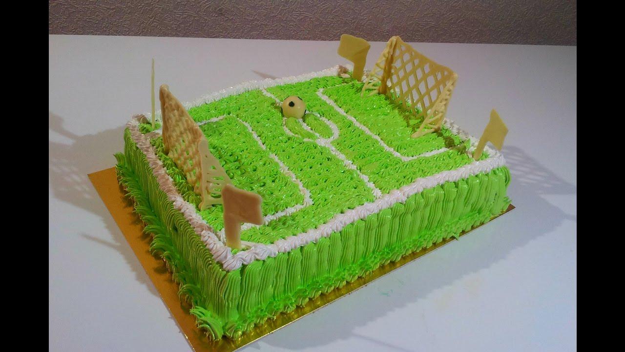 Как на торте сделать футбольное поле 728