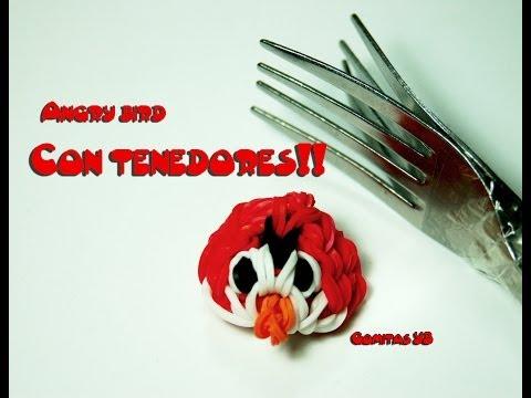 Angry Bird Con Tenedores (con Gomitas) video