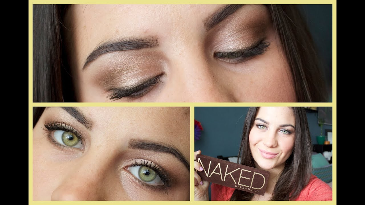 Natural makeup look for hazel eyes