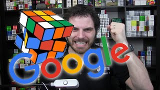 Solving the Rubik's Cube Google Doodle from the 40th Anniversary