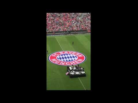 One Republic rocking the Allianz Arena at HT FC Bayern München 