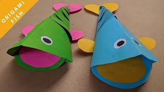 How to make Origami Fish | Easy Fish Toy Craft | Paper Art | HDsheet