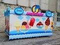 Оформление вагончика по продаже мороженного Clearance of an ice cream trailer