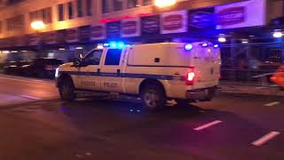 RARE CATCH OF THE CHICAGO POLICE DEPARTMENT SWAT TEAM UNIT RESPONDING IN CHICAGO, ILLINOIS.