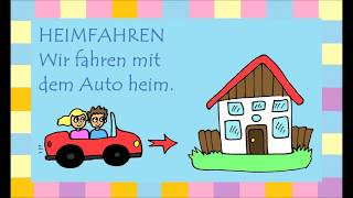 Deutsch lernen: 33 trennbare Verben (learn German: separable verbs - apprendre l