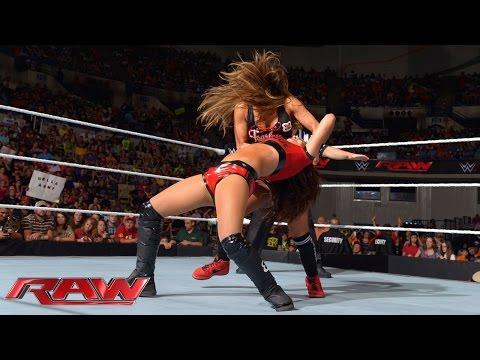 AJ Lee & Brie Bella vs. Paige & Nikki Bella: Raw, Sept. 15, 2014