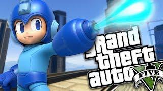 THE MEGAMAN MOD w/ SUPER POWERS (GTA 5 PC Mods Gameplay)