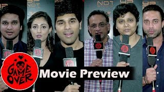 Tollywood Celebrities About Taapsee's 'GAME OVER' Telugu Thriller Movie | GAme Over Movie Preview