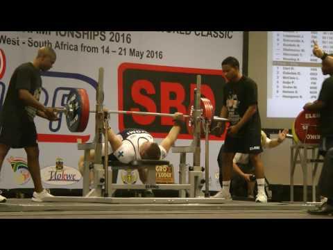 Sami Pullinen 205-215-220 Bench Press world championships 2016